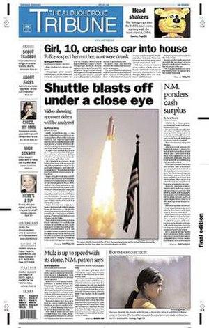 The Albuquerque Tribune - Image: The Albuquerque Tribune front page