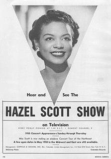 <i>The Hazel Scott Show</i> US television program