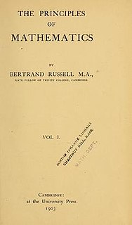 <i>The Principles of Mathematics</i> book by Bertrand Russell