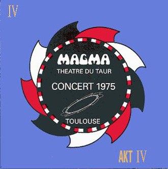 Theatre Du Taur Concert, 1975 - Image: Theatre Du Taur Concert, 1975 Cover