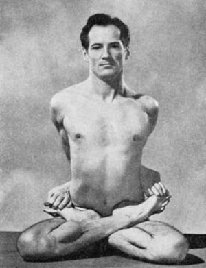 Theos Casimir Bernard - Bernard, practicing yoga