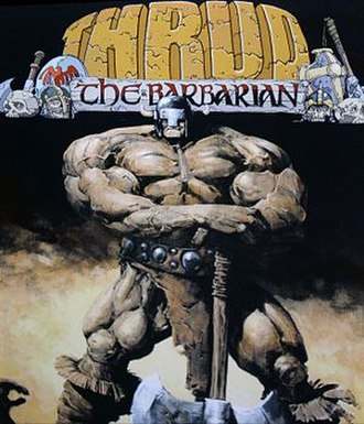 Thrud the Barbarian - Image: Thrud painted cover