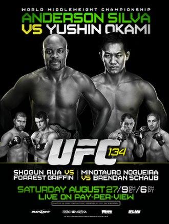 UFC 134 - Image: UFC 134 Poster