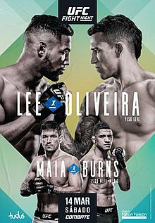 Ufc Fight Night Lee Vs Oliveira Wikipedia