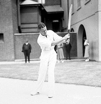 Bill Brown (cricketer) - Bill Brown flicks a ball to the leg side.