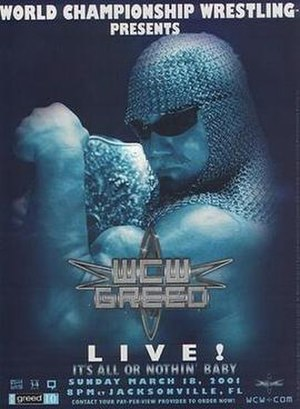 WCW Greed - Promotional poster featuring Scott Steiner