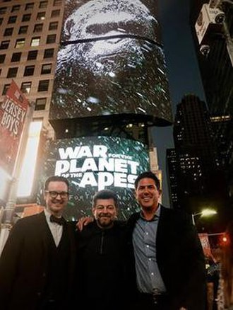 War for the Planet of the Apes - Matt Reeves, Andy Serkis and Dylan Clark at New York Comic-Con 2016 for the War for the Planet of the Apes panel