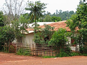 West Region (Cameroon) - Bamileke dwellings, such as this one in Bandjoun, are typically separated by fences.
