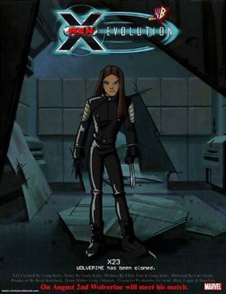 "X-23 - Promo shot for the ""X-23"" episode of X-Men: Evolution; the original design of Laura Kinney / X-23."