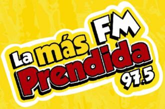 XHHP-FM - Image: XHHP La Mas Prendida 97.5 logo