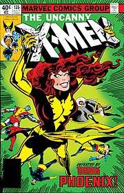 Dark Phoenix trade paperback. Cover art, from The Uncanny X-Men #135 (July 1980), by Byrne & Terry Austin.