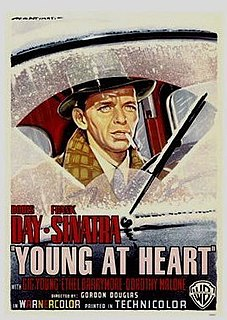<i>Young at Heart</i> (1955 film) 1955 musical film directed by Gordon Douglas and starring Doris Day and Frank Sinatra