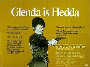 Hedda (film) - British quad poster
