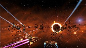 Aces of the Galaxy - Gameplay screenshot.