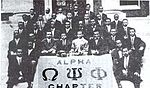 The Alpha chapter of Omega Psi Phi in 1912.