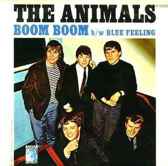 Boom Boom (John Lee Hooker song) - Image: Animals Boom Boom cover
