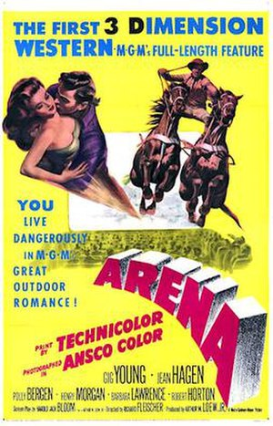 Arena (1953 film) - 1953 Theatrical Poster
