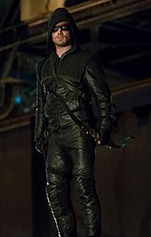 The Arrow Costume Worn By Stephen Amell During First Season