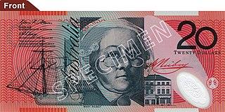 Australian twenty-dollar note Australian banknote