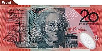Australian twenty-dollar note - Image: Australian $20 polymer front