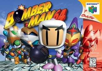 Bomberman 64 (1997 video game) - North American Nintendo 64 cover art