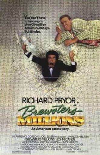 Brewster's Millions (1985 film) - Promotional film poster