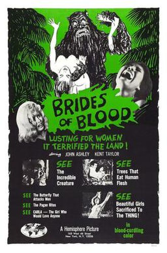 Brides of Blood - Theatrical release poster
