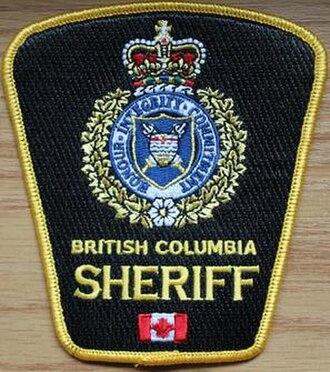 British Columbia Sheriff Service - Image: British Columbia Sheriff Service (badge)