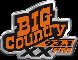 CJXX-FM - Image: CJXX Big Country 93.1 logo