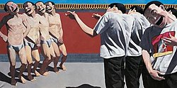 Execution by Yue Minjun, the most expensive Chinese contemporary art sold in 2007, for a value of US $5.9 million (or Euro €4.2 million, British pound £2.9 million)