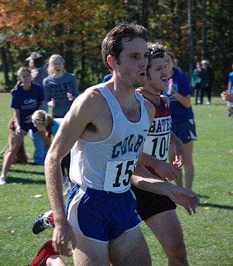 Colby Mules - A Colby varsity runner, competing against Bates