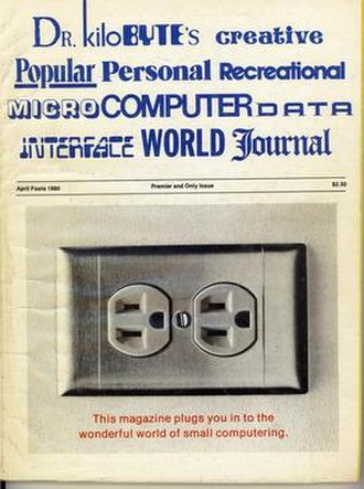 "Creative Computing (magazine) - ""Flip Side"" of the April 1980 issue, with a parody of various computer magazines."
