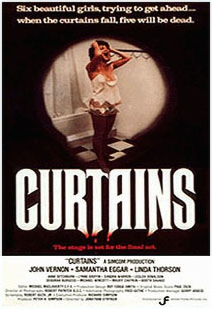 Curtains (1983 film) - Official 1983 one-sheet poster