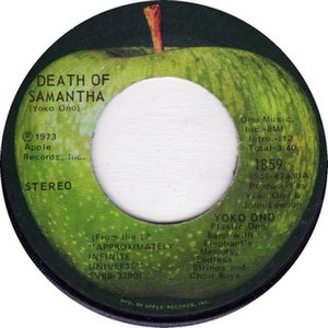 Death of Samantha (song) - Image: Death of Samantha label