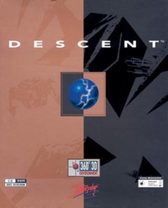Descent (1995 video game) - PC cover art