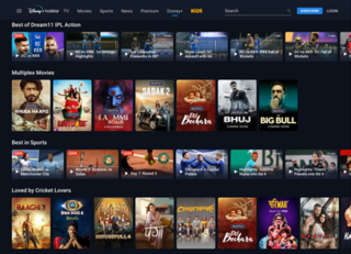 Hotstar Indian streaming service operated by Star India