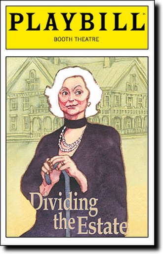 Dividing the Estate - Playbill for the Broadway production