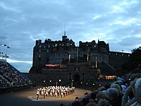 Royal Marines emerging from Edinburgh Castle d...