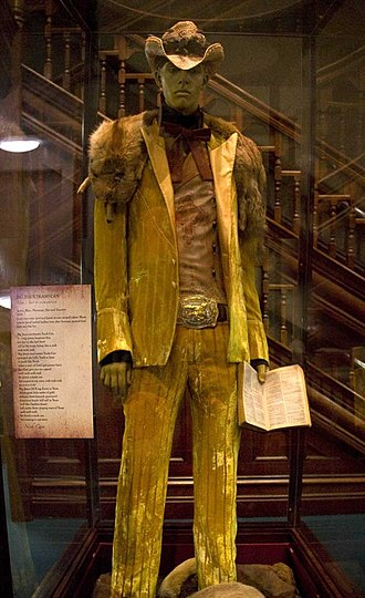 """Ericaamerica - Ericaamerica suit on display at the Western Australian Museum as part of the """"ericaamerica: A Cave Of Wonders"""" exhibition"""