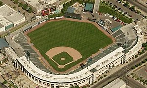 Fresno Fuego - Fuego's current stadium, Chukchansi Park. Fuego play in the outfield.