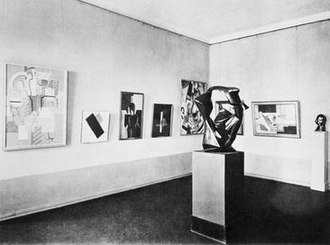 En Canot - Metzinger's En Canot at the Kronprinzenpalais, Nationalgalerie, Berlin, 1930; works later found in the Degenerate Art Exhibition (Entartete Kunst)