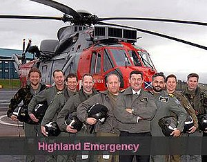 Some of the crew from HMS Gannet on TV's Highland Emergency