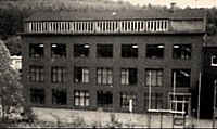 Old factory building, circa 1934, used as concentration camp