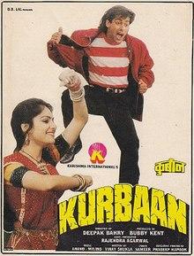 Kurbaan (1991) SL YT - Sunil Dutt, Salman Khan, Ayesha Jhulka, Kabir Bedi, Rohini Hattangadi, Gulshan Grover, Goga Kapoor, Bharat Kapoor, Kunika, Rajesh Puri, Subbiraj, Sunil Dhawan, Ramesh Goyal, Kamaldeep, Ranjeet, Sudha Chandran