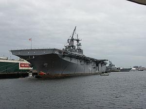 USS Kearsarge (LHD-3) - Kearsarge docked in Portsmouth, 2006