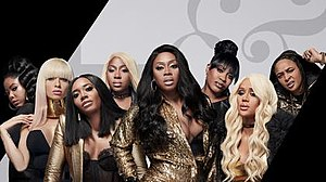Love & Hip Hop: New York - The cast of the eighth season, from left to right: Juju, Mariahlynn, Yandy, Bianca, Remy, Lil' Mo, Anaís and Snoop.