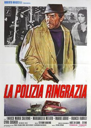 Execution Squad - Image: La polizia ringrazia italian movie poster