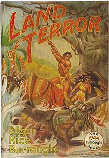 <i>Land of Terror</i> 1944 Book by Edgar Rice Burroughs