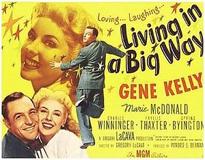 Living in a Big Way - Image: Living in a Big Way Film Poster