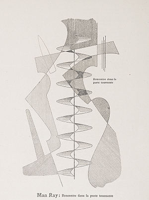 Man Ray - Man Ray, c. 1921–1922, Rencontre dans la porte tournante, published on the cover (and page 39) of Der Sturm, Volume 13, Number 3, March 5, 1922